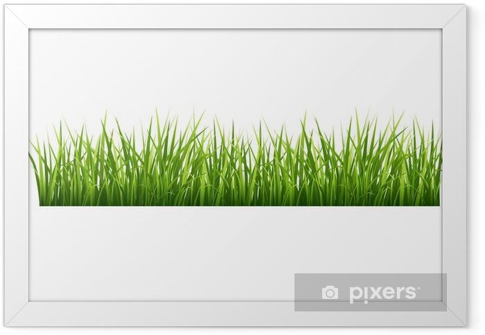 Grass Framed Poster - Seasons
