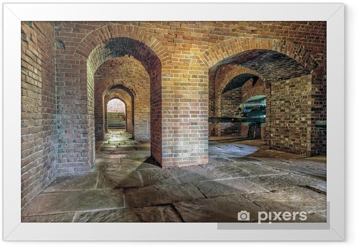 Plakat w ramie Artyleria cegły podziemny tunel - Budynki i architektura