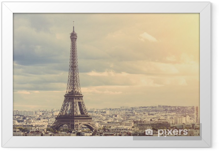 Ingelijste Poster Tour Eiffel in Parijs - Thema's