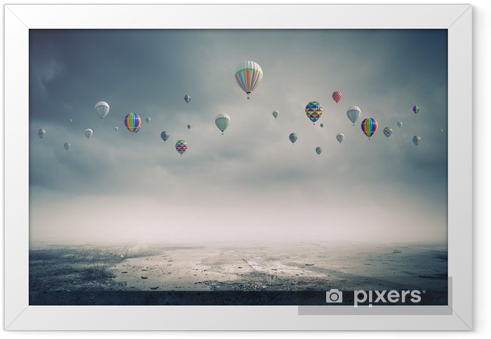 Flying balloons Framed Poster - Destinations