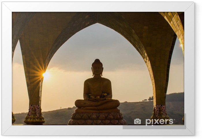 Buddha in sun set time Framed Poster - Styles