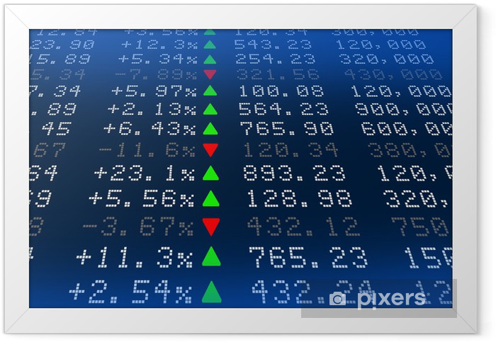 Digital Stock exchange panel Framed Poster - Finance