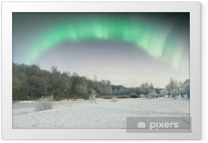 Northern Lights. Framed Poster - Countryside