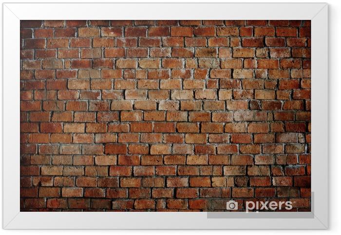 Plakat w ramie Klasyczny piękny murowany teksturą ściany - Tematy
