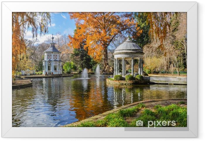 Plakat w ramie Chinescos staw, ogród księcia, Aranjuez (Madrid) - Miasta europejskie
