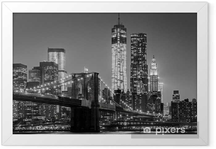 New York City by night Framed Poster -