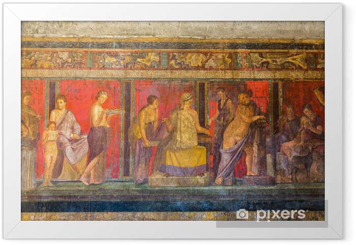 Ingelijste Poster Pompeii stad - Europa