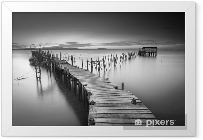 A peaceful ancient pier Framed Poster - Landscapes