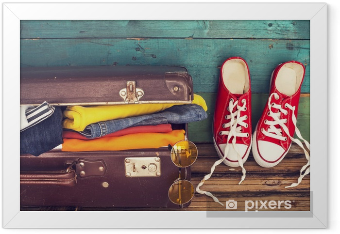 Holiday suitcase Framed Poster - Hobbies and Leisure