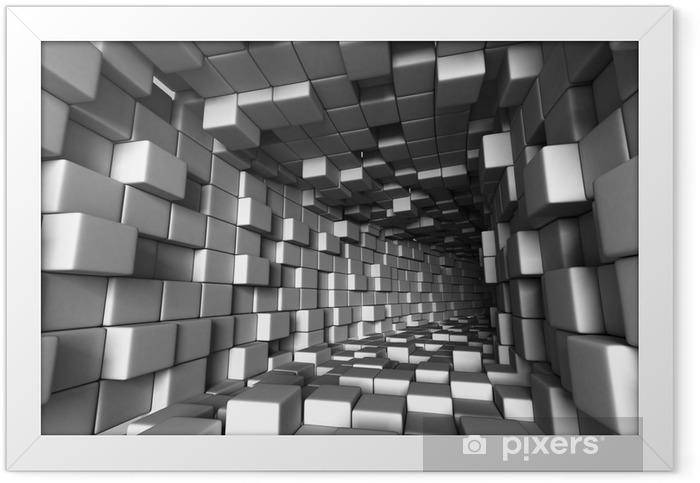 Plakat w ramie Streszczenie architektury tunelu z jasnym tle - Zasoby graficzne