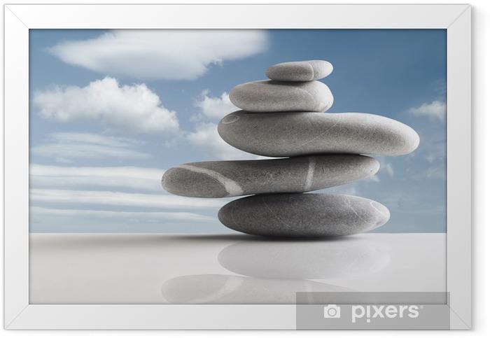 Poster en cadre Pile of five stones - Thèmes