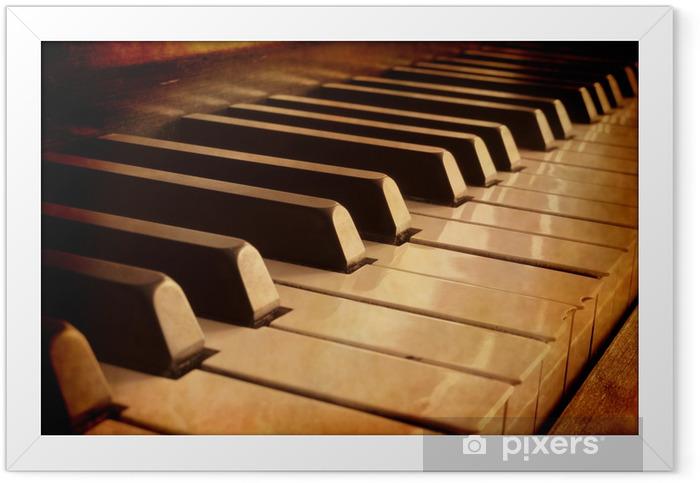 Sepia Piano Keys Framed Poster - Music
