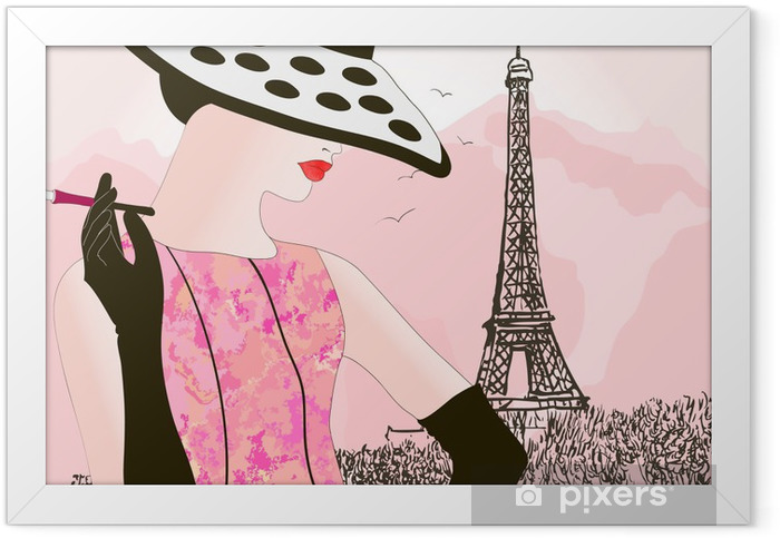 fashion woman in Paris Framed Poster - Fashion