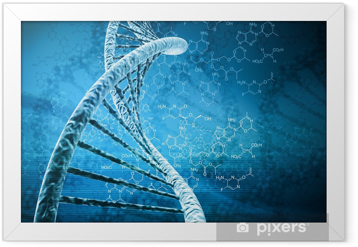 Digital illustration of a dna Framed Poster - Countryside