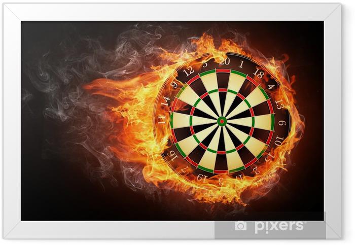 Darts Board Framed Poster -
