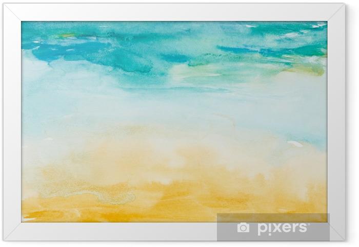 Plakat w ramie Kolor gładzi akwareli sztuki - Tematy