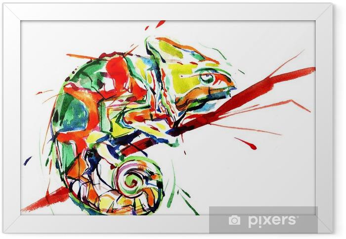 chameleon Framed Poster - Science & Nature