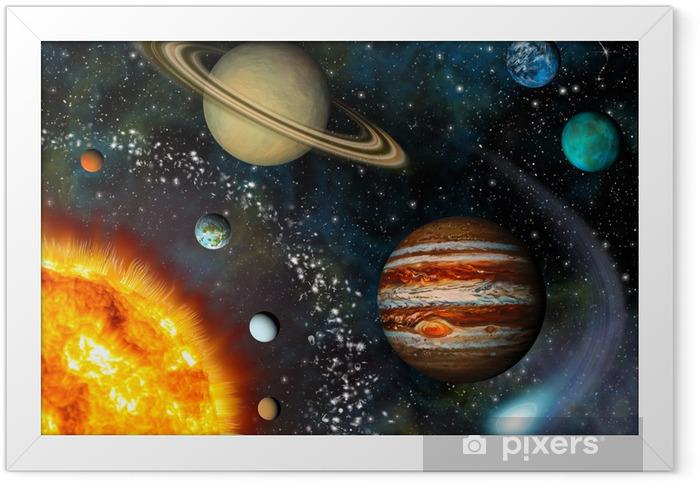 3D Solar System Framed Poster - Universe