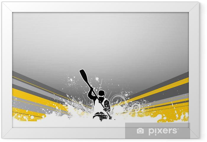 Kayak Framed Poster - Backgrounds
