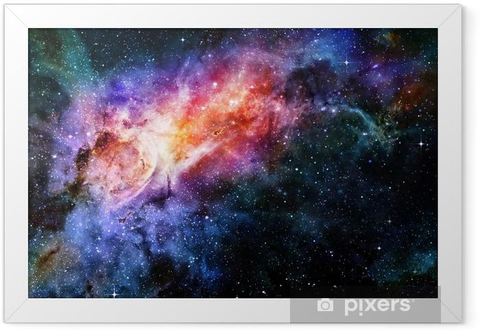 Plakat w ramie Gwiaździsta Mgławica głębokiej przestrzeni kosmicznej i galaxy - Gwiazdy