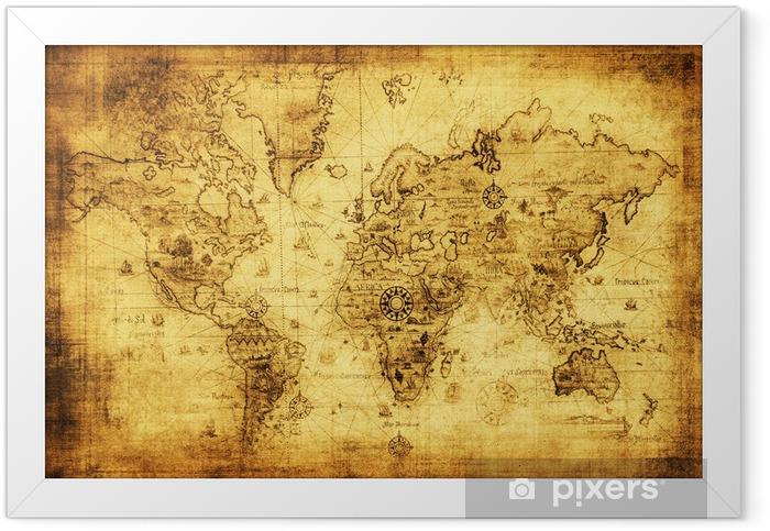 Plakat w ramie Starożytne mapy świata. -