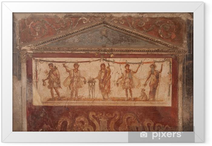 Plakat w ramie Fajne w Pompejach - Zabytki