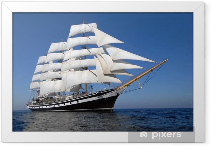 Sailing ship Framed Poster - Destinations