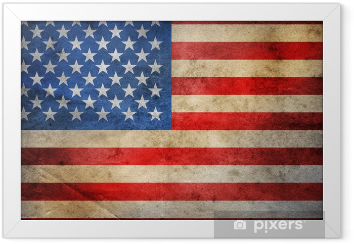 Plakat w ramie Grunge USA flag - Flagi narodowe