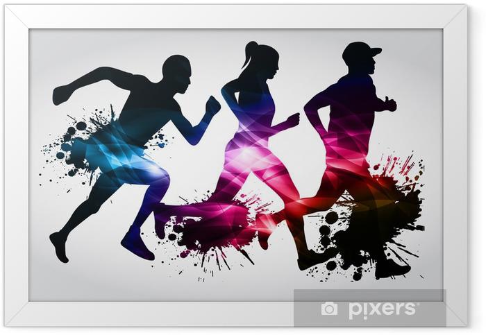 Marathon Runners Framed Poster - Themes