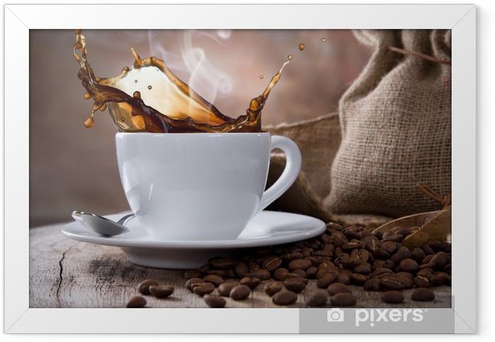 Plakat w ramie Filiżanka kawy -