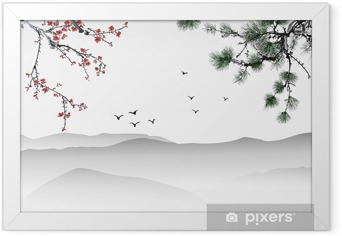 Plakat w ramie Chińskich malowanie - Tematy