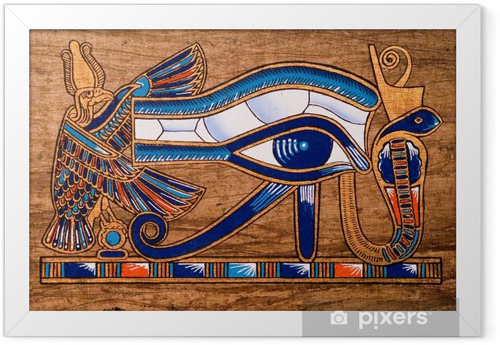 Plakat w ramie Egipski papirus, oko horusa - iStaging