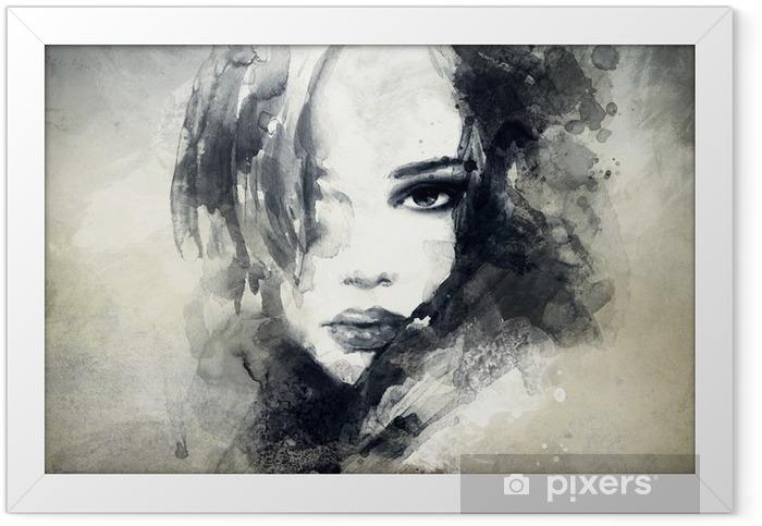 Plakat w ramie Abstrakcyjny portret kobiety -