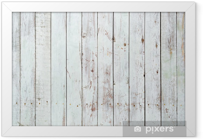 Black and white background of wooden plank Framed Poster -