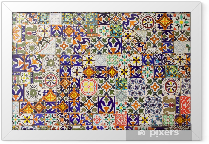 Plakat w ramie Płytki ceramiczne wzory - Płytki