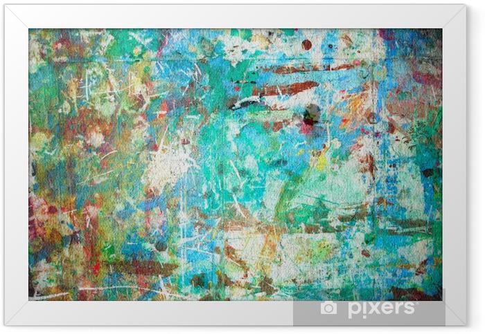 Ingelijste Poster Abstract Aquarel - Thema's