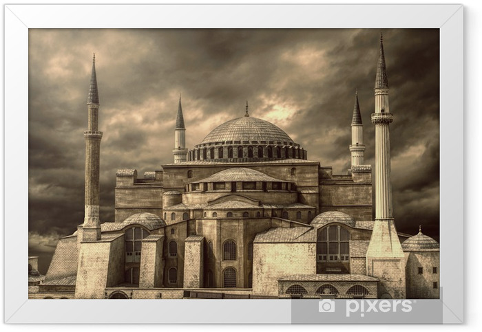 Hagia Sophia@Istanbul Framed Poster - Public Buildings