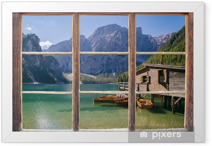 Plakat w ramie Widok z okna - Tematy