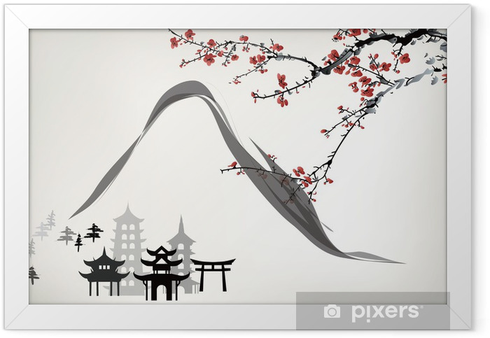 mountain pavilion Framed Poster - Themes