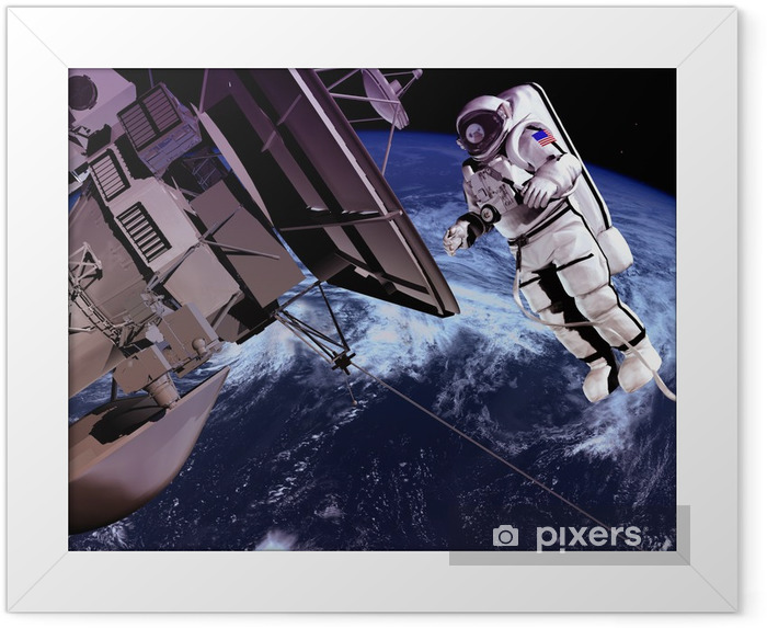 The space ship Framed Poster - Themes