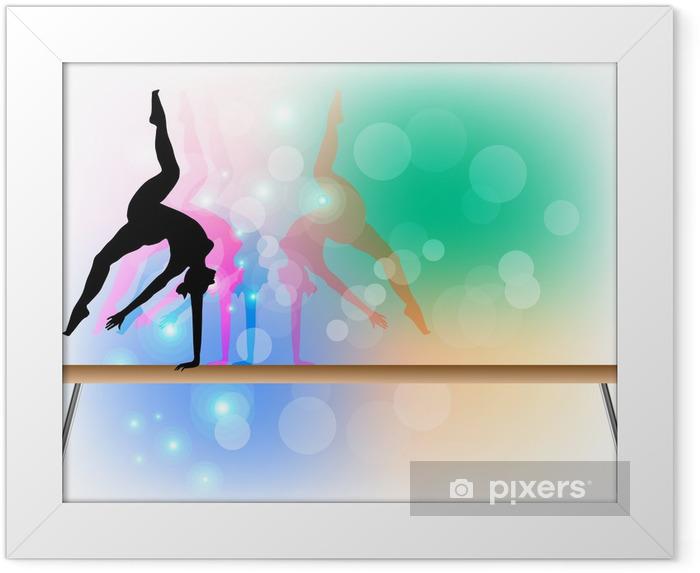 Plakat w ramie Gimnastyka sportowa - Belka - Tancerze
