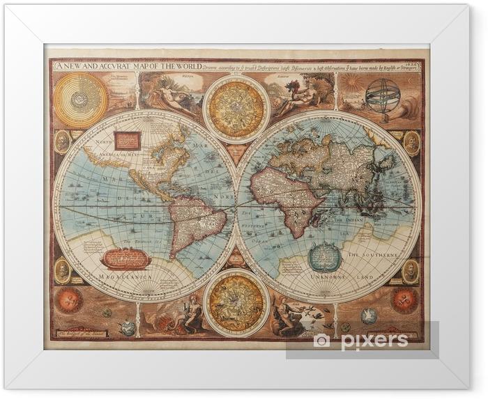 Poster en cadre Ancienne carte (1626) -