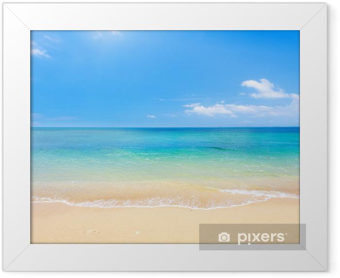 Plakat w ramie Plaża i tropikalnych morza - Plaża i tropiki