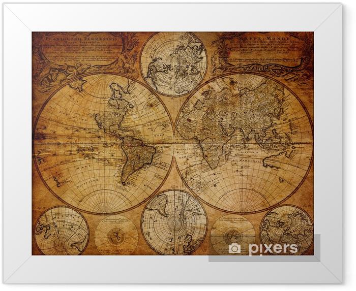 Plakat w ramie Stara mapa (1746) -