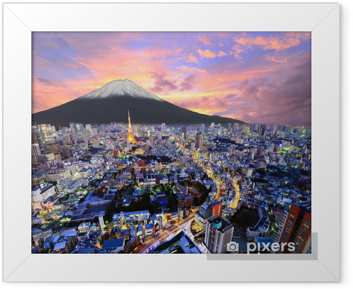 Tokyo and Fuji Framed Poster - Asia