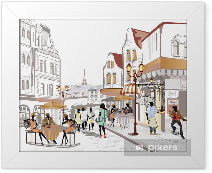 Plakat w ramie Seria widoków ulic w starej części miasta - Tematy