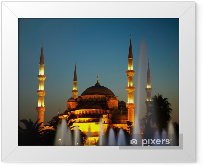 Sultan Ahmet Camii (Blue Mosque). Istanbul, Turkey Framed Poster - The Middle East