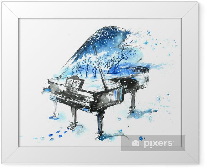 Ingelijste Poster Seizoenen van het jaar - piano