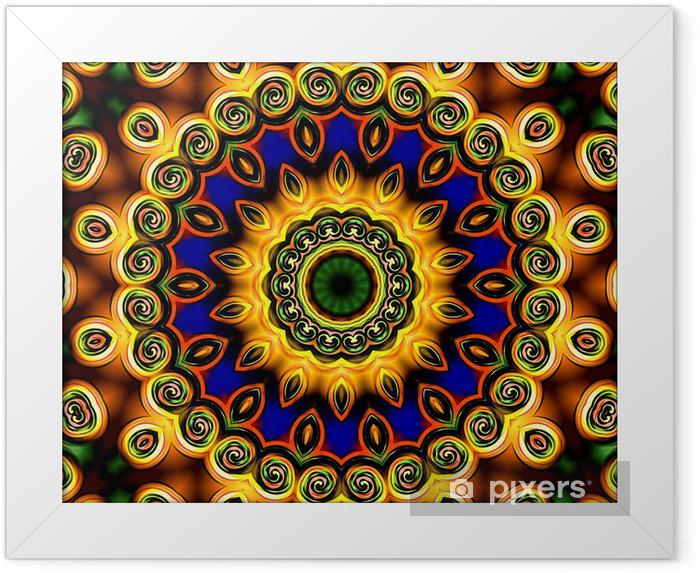 meditation mandala Framed Poster - Backgrounds
