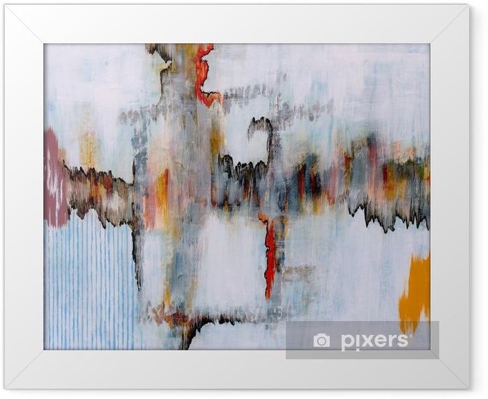Póster Enmarcado Una pintura abstracta - Tecnología
